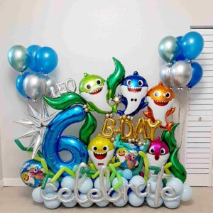 Balloons Bouquet Shark Birthday
